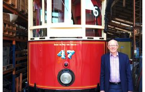 Alan Curtis who started driving trams at MOTAT in 1967.