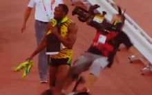 Usain Bolt is hit by a segway