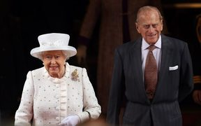 Britain's Queen Elizabeth II and her husband Prince Philip, The Duke of Edinburgh in Germany last year.