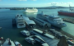 Queens Wharf in Auckland.