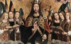 Christ Surrounded by Musician Angels - Hans Memling (1480s)