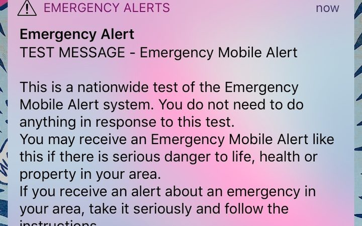 Emergency alert test expected to reach half of all mobiles