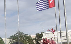 West Papua's Morning Star flag flown in Port Vila, Vanuatu