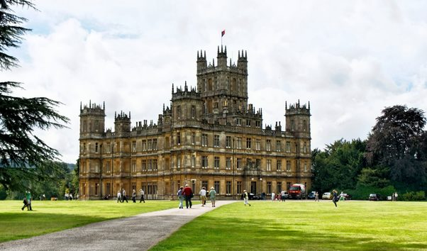 Highclere Castle, where Downton Abbey was filmed
