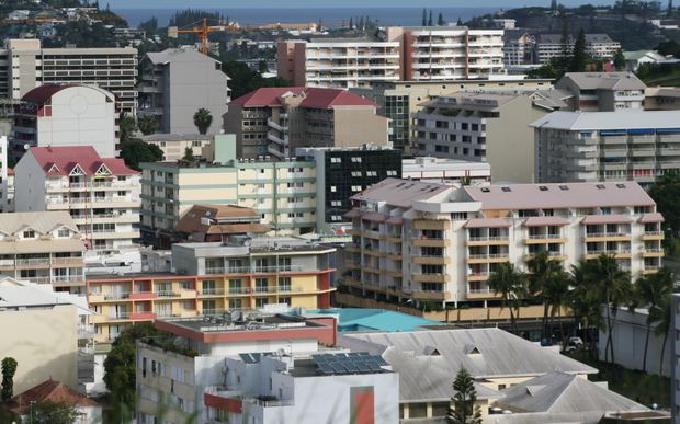 Downtown Noumea (capital of New Caledonia)
