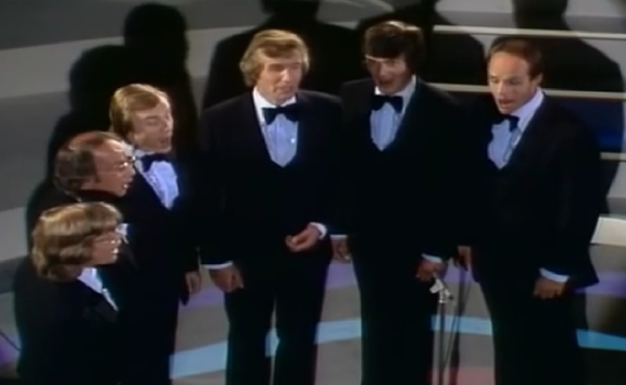 The original King's Singers; bass Brian Kay at right