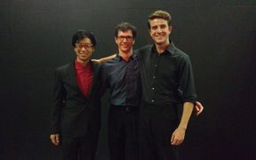 Gisborne International Music Competition 2017 finalists Hahnsol Kim, Alexander McFarlane & Oliver Shermacher