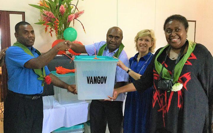 UNDP gives Vanuatu international standard ballot boxes