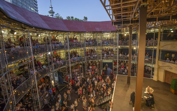 Inside the Pop-up Globe in Auckland