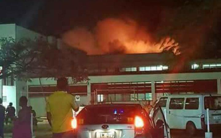 Fire sparks mass evacuation at Fiji hospital