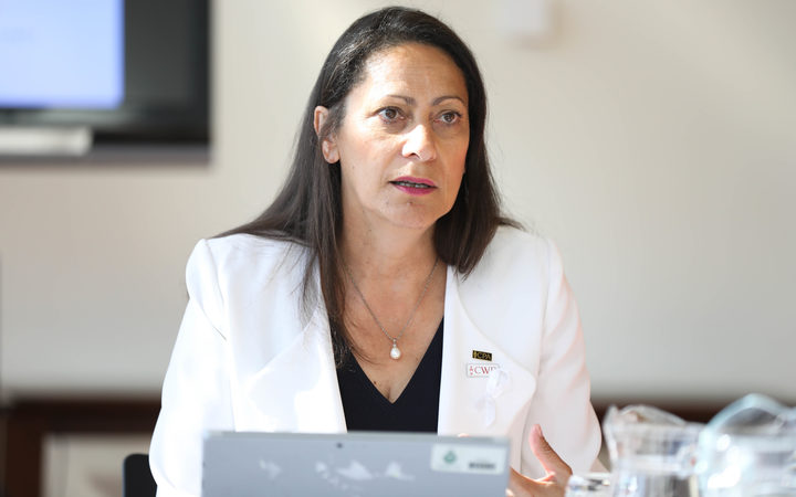 Labour MP and chair of the Commonwealth Women Parliamentarians Pacific Region Poto Williams runs a mentoring workshop for visiting Pacific women MPs.