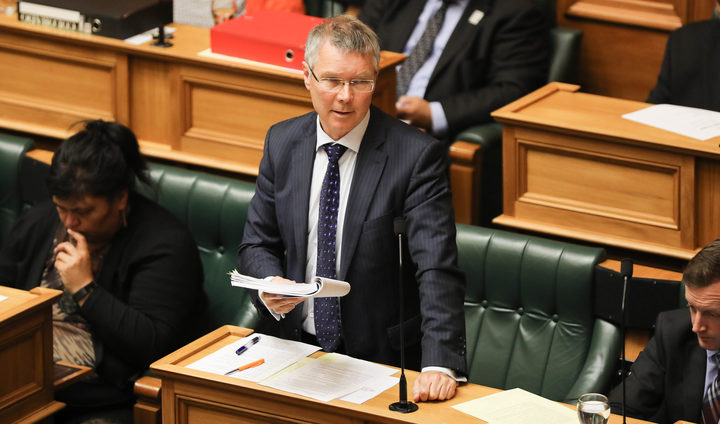 Attorney General David Parker makes a ministerial statement in the House on the report of the Havelock North Drinking Water Inquiry.