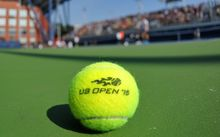 US Open 2015 tennis ball on court generic