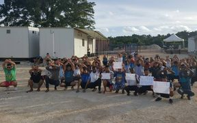 123rd daily protest on Manus Island, West Haus, 3-12-17.