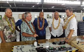 General manager of Fero explains operation at Samoa launch