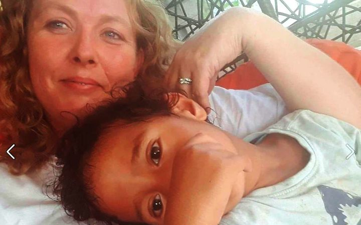 Australian Sarah Moses and her son Jack who were murdered in Kiribati. December 2017.