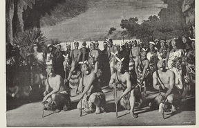 'Haka in Maoriland' 25 June 1904 in NZ Graphic