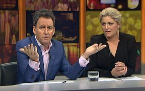 Mike Hosking and Toni Street