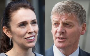 Jacinda Ardern and Bill English