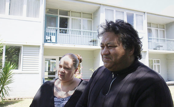 Robert Erueti has been placed in a new Housing New Zealand property today. 15 December 2017.