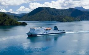 The Kaitaki in the Marlborough Sounds.