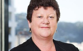 A headshot of the Ministry of Education's head of sector enablement and support, Katrina Casey taken in an office in Wellington