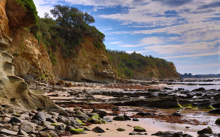 The rugged coastline at Inverloch was formed more than 100 million years ago.