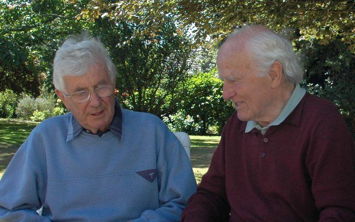 Peter Godfrey and Sir David Willcocks