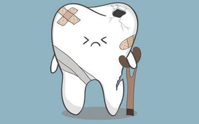 A grumpy tooth