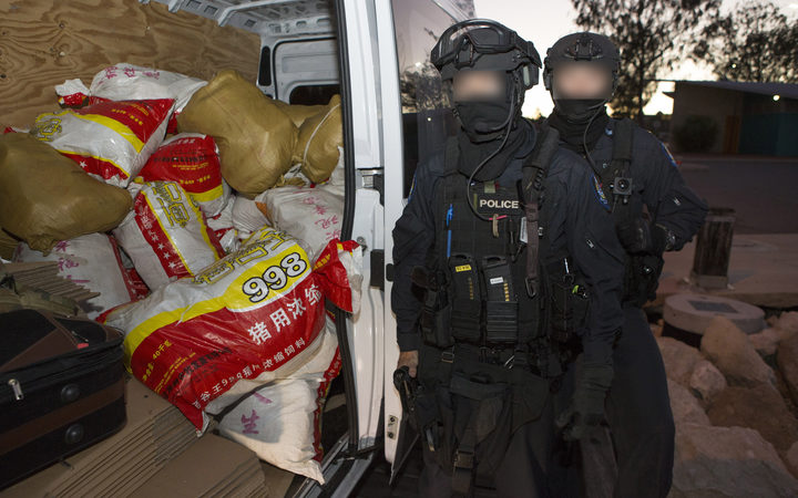 Australia Federal Police have seized a record haul of methamphetamine.