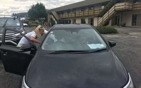 Amy Hollamby took the keys off a tourist who she says was driving dangerously.