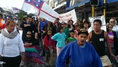 Hapu have take to the streets of Whangerei in protest over the mandate.