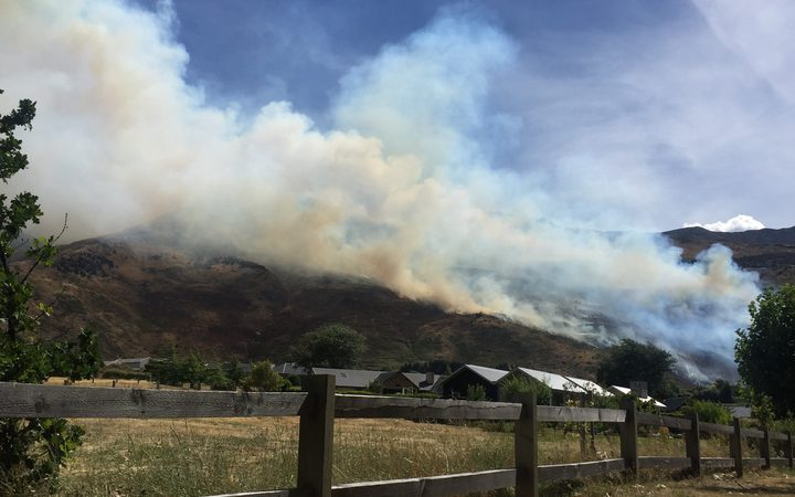 The fire on Mt Roy near Wanaka.