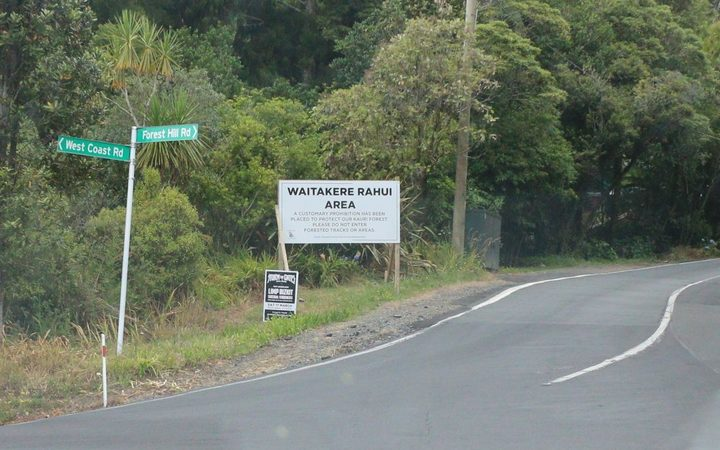 A sign for the rāhui seen heading towards Piha.Photo:Nita Blake-Persen