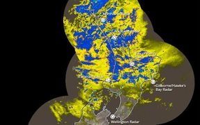 The rain radar at 2.20pm.