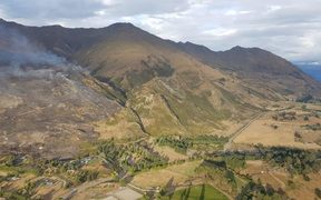 The scrub fire over Wanaka consumed about 200 hectares before it was contained yesterday.