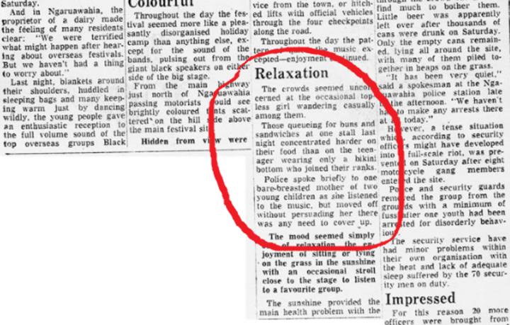 NZ Herald article, 1973