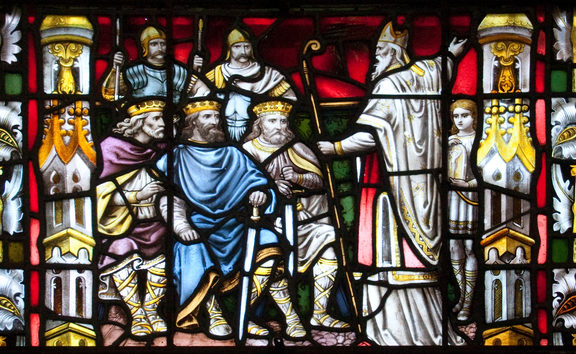 St Patrick preaching to the kings. Carlow Cathedral, Ireland