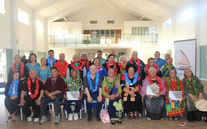40 people gathered for a ceremony at a Tongan church in Otara after completing the programme.