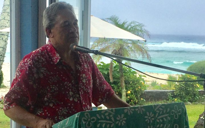 New Zealand's Foreign Minister Winston Peters in Rarotonga