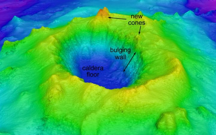 The Le Havre submarine volcano.