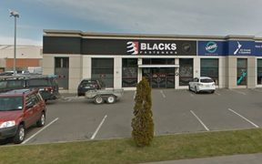 Fire and Emergency received multiple calls about the blaze at the Blacks Fasteners building on Blenheim Road.
