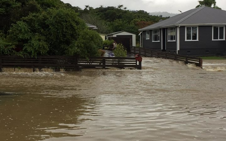 Surface flooding in Greymouth