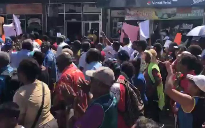 Up to 900 people are said to have marched through the streets of Nadi
