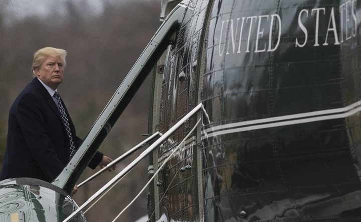 US President Donald Trump boards Marine One following his annual physical at Walter Reed National Military Medical Center.