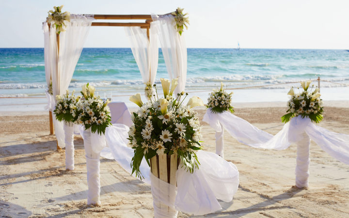 Pacific island wedding
