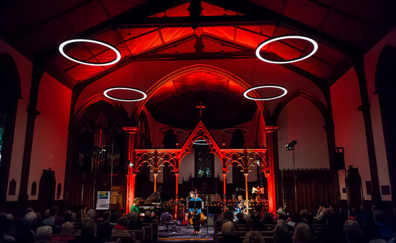 Wellington Jazz Festival 2017, Secret Islands Quintet at St Peter's Church, Wellington, NZ. 10 June 2017.