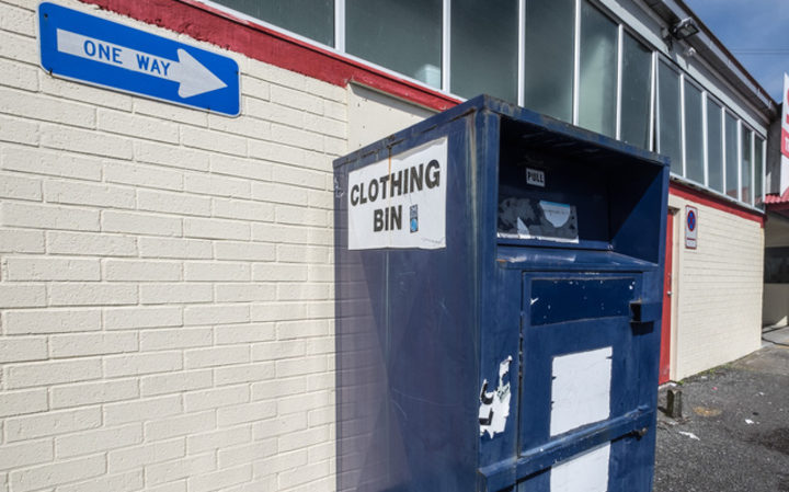 Savemart in New Lynn where second hand clothes in the blue child cancer clothing bins go to be sorted and sold