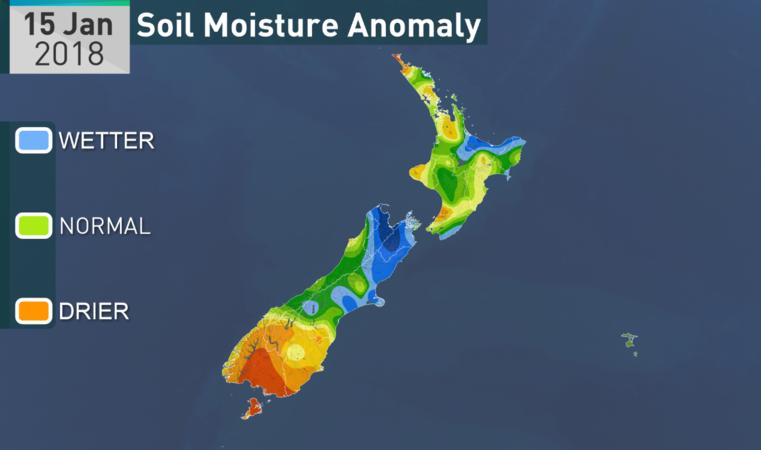 Soil moisture on January 15.
