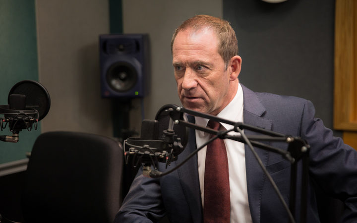 Andrew Little in the RNZ Auckland studio, 11 July 2017.